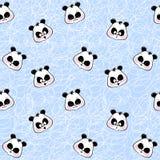 Fondo inconsútil con la panda de los bozales Fotografía de archivo libre de regalías