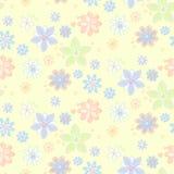 Fondo inconsútil con las flores, estilo a mano Ilustración del Vector