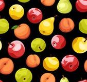 Fondo inconsútil con las frutas. stock de ilustración