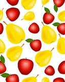 Fondo inconsútil con las frutas Imágenes de archivo libres de regalías