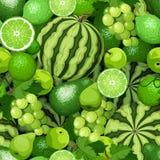 Fondo inconsútil con las frutas verdes Ilustración del vector libre illustration