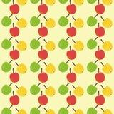 Fondo inconsútil con las manzanas Imagen de archivo libre de regalías