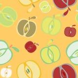 Fondo inconsútil con las manzanas stock de ilustración