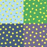 Fondo inconsútil con las manzanas amarillas Fondo estacional del otoño, escuela modelos de la manzana para el diseño ilustración del vector