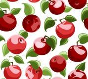 Fondo inconsútil con las manzanas rojas stock de ilustración