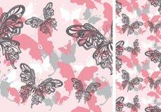 Fondo inconsútil con las mariposas Imagenes de archivo