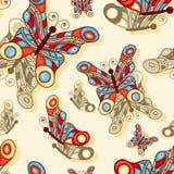 fondo inconsútil con las mariposas Imagen de archivo