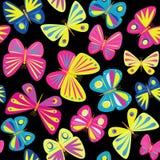 Fondo inconsútil con las mariposas Foto de archivo libre de regalías