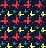 Fondo inconsútil con las mariposas del abstact Fotos de archivo
