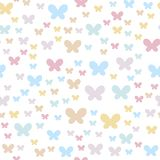 Fondo inconsútil con las mariposas Los colores delicados están bien adaptados para los partidos y las cosas de los niños ilustración del vector