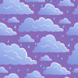 Fondo inconsútil con las nubes 5 stock de ilustración