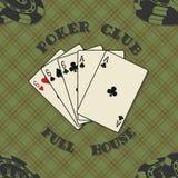Fondo inconsútil con las tarjetas del póker para Imagen de archivo