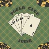 Fondo inconsútil con las tarjetas del póker para Imagenes de archivo