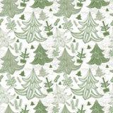 Fondo inconsútil con los árboles de navidad ilustración del vector