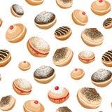 Fondo inconsútil con los anillos de espuma dulces libre illustration