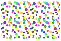 Fondo inconsútil con los círculos coloridos en un fondo blanco Fotografía de archivo