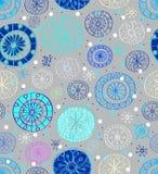 Fondo inconsútil con los copos de nieve Imagen de archivo libre de regalías