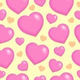 Fondo inconsútil con los corazones 2 Imagen de archivo libre de regalías