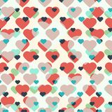 Fondo inconsútil con los corazones libre illustration
