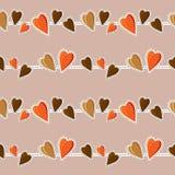 Fondo inconsútil con los corazones empaquetado celebración Amor C Imágenes de archivo libres de regalías