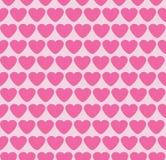 Fondo inconsútil con los corazones. Tarjeta del día de San Valentín. Imagen de archivo libre de regalías