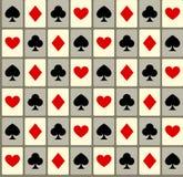 Fondo inconsútil con los juegos de la tarjeta Fotos de archivo