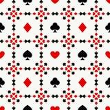 Fondo inconsútil con los juegos de la tarjeta Fotografía de archivo libre de regalías
