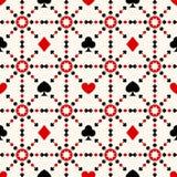 Fondo inconsútil con los juegos de la tarjeta ilustración del vector