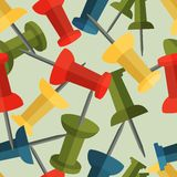 Fondo inconsútil con los pernos coloridos en diseño plano ilustración del vector