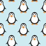 Fondo inconsútil con los pingüinos Imagen de archivo