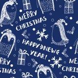 Fondo inconsútil con los pingüinos holidays libre illustration