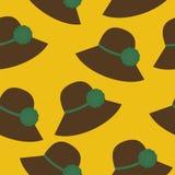 fondo inconsútil con los sombreros Foto de archivo libre de regalías