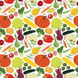 Fondo inconsútil con una variedad de verduras Fotografía de archivo libre de regalías