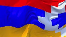 226 Fondo inconsútil continuo del lazo de Nagorno Karabakh Republic Flag Waving libre illustration