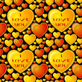 Fondo inconsútil, corazones de la tarjeta del día de San Valentín Imagenes de archivo