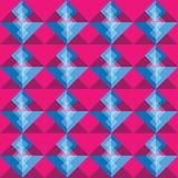 Fondo inconsútil cuadrado rosado y azul del modelo Fotografía de archivo libre de regalías