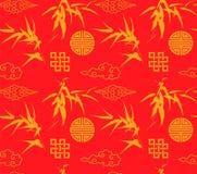 Fondo inconsútil de bambú chino stock de ilustración
