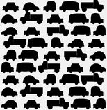 Fondo inconsútil de coches negros Fotografía de archivo