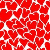 Fondo inconsútil de corazones Fotografía de archivo libre de regalías