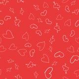 Fondo inconsútil de corazones Imagen de archivo libre de regalías