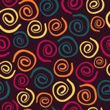 Fondo inconsútil de espirales ilustración del vector
