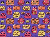 Fondo inconsútil de Halloween con diversas formas de las calabazas imagen de archivo libre de regalías