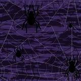 Fondo inconsútil de Halloween con los spiderwebs ilustración del vector