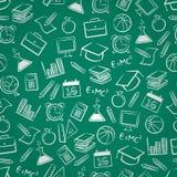 Fondo inconsútil de la educación Imagen de archivo libre de regalías