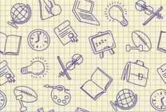 Fondo inconsútil de la escuela ilustración del vector
