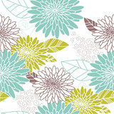 Fondo inconsútil de la flor azul y verde libre illustration