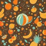 Fondo inconsútil de la fruta Imagen de archivo libre de regalías