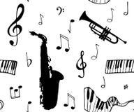 Fondo inconsútil de la música libre illustration
