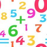 Fondo inconsútil de la matemáticas Imágenes de archivo libres de regalías