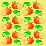 Fondo inconsútil de la naranja y de la cal Imagen de archivo